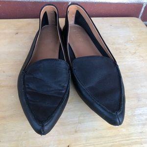 J. Crew Black Edie Leather Loafers Sz7